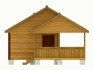 баня с двухскатный крышей