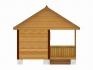 двухскатная крыша у бани