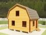 дачный домик с мансардой из бруса 6х5 под ключ