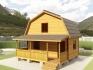 фото садового домика с мансардой 6х6