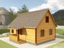 двухскатная крыша с небольшой верандой