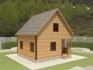 строим дом с мансардой из клееного бруса под ключ