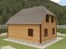 нестандартная крыша на двухэтажном домике
