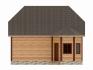 прямой вид на дом со стороны веранды