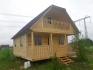 брусовый дом с балконом и террасой
