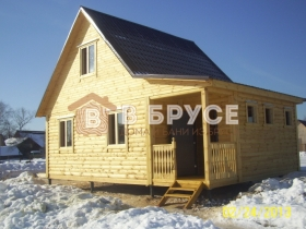 фото готового дома из клееного 6х8