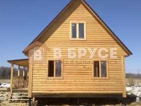 Строительство домов из бруса - фото готового проекта