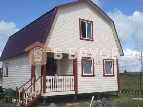 Проект небольшого брусового дома - фото