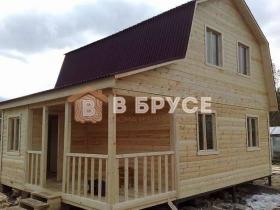 фото готового дома 6х8 из бруса