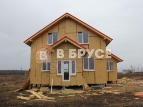 фасад двухэтажного каркасного дома