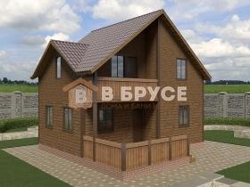 дом с балконом над террасой