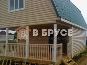 Дачный дом из бруса с мансардой 6х9 фото