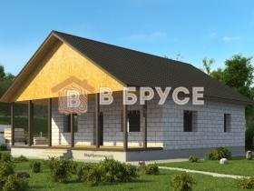 дом с большим крыльцом