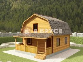 фото дома с мансардой и террасой для дачи