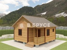 фото одноэтажного домика 6х6
