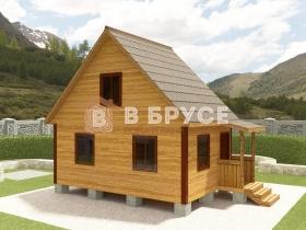дачный домик с мансардой 7,5х4