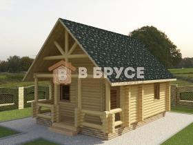 торец бани с двухскатной крышей