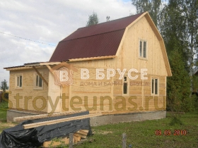 фото готового жилого дома 6х9 с мансардой