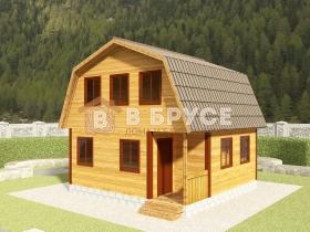 фото дома с мансардой и санузлом 6х6