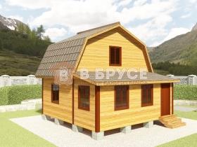 дачный дом с мансардой 6х6