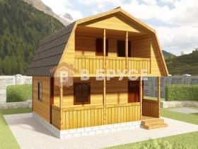 фото дома с мансардой и балконом