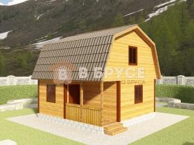 фото деревянного дома 6х6
