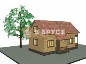 Общий вид небольшого двухэтажного домика