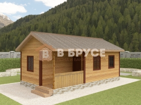 фото длинного дома для узкого участка