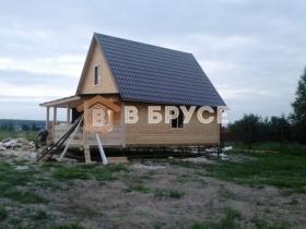 фото готового дома из сухого бруса 6х9