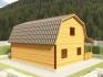 трех угловая крыша двухэтажного дома